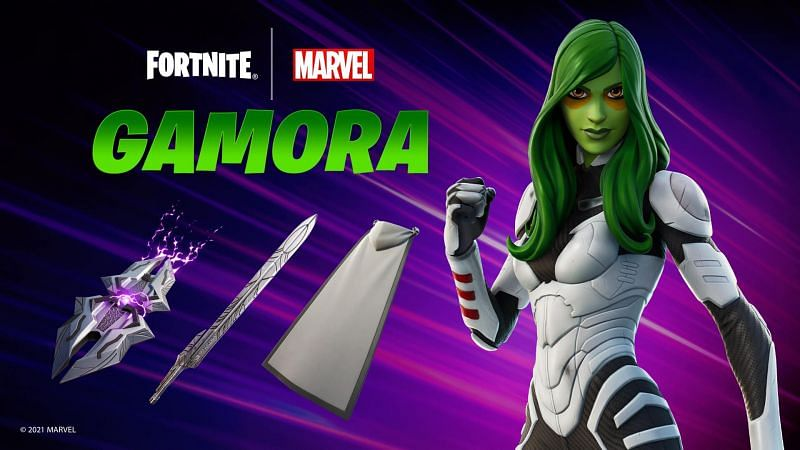 Gamora outfit bundle in Fortnite (Image via Epic Games)