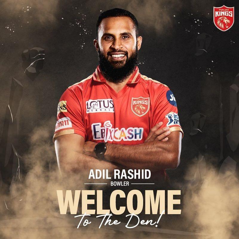 Adil Rashid (Pic: Punjab Kings Twitter)