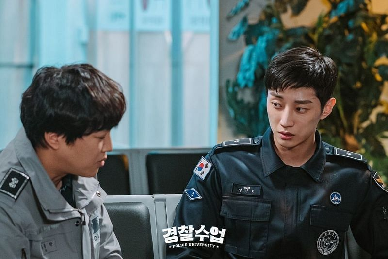 A still of Dong-man and Sun-ho in Police University (Image via KBS/Instagram)