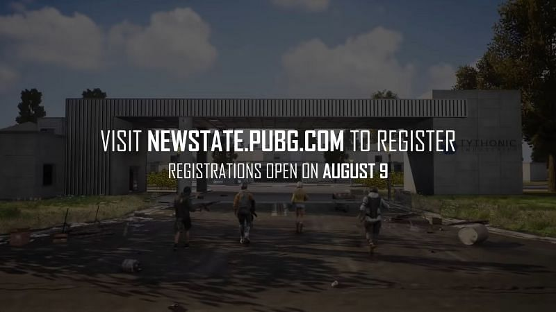 The registrations will begin on August 9, 2021 (Image via PUBG New State)