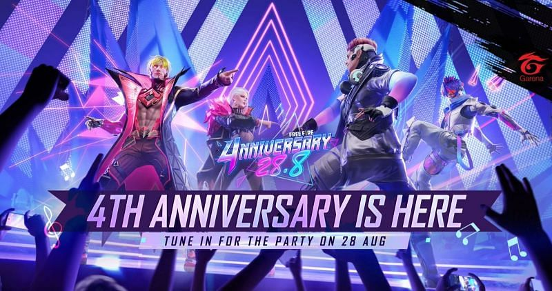 The 4th anniversary-themed music party stage on Training Ground