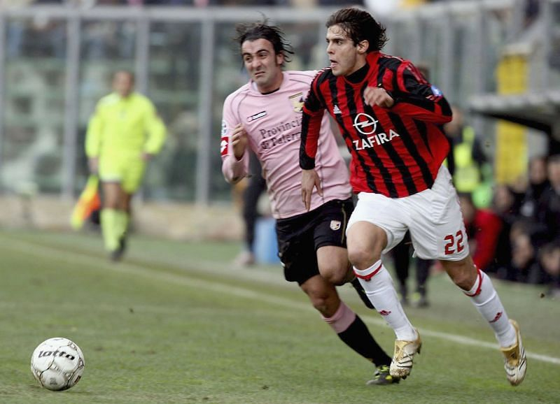 Kaka in action for AC Milan in the Serie A in 2006