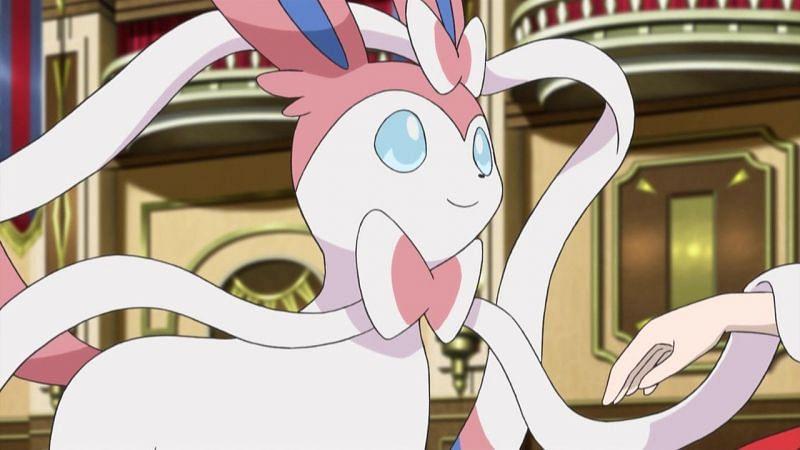 Sylveon in the anime (Image via The Pokemon Company)