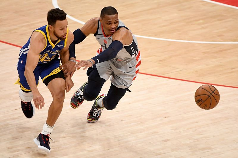 Russell Westbrook and Stephen Curry are in the same conference again