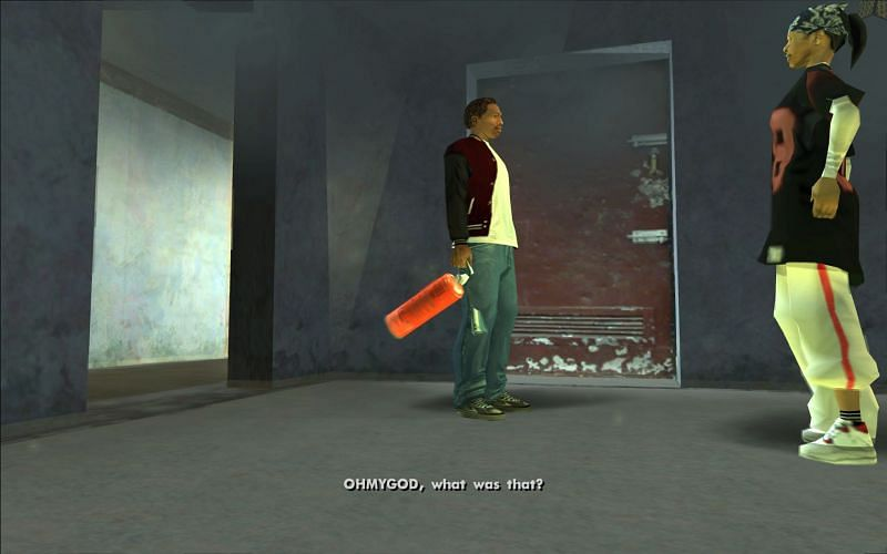The Fire Extinguisher is used in the mission, Burning Desire (Image via Rockstar Games)