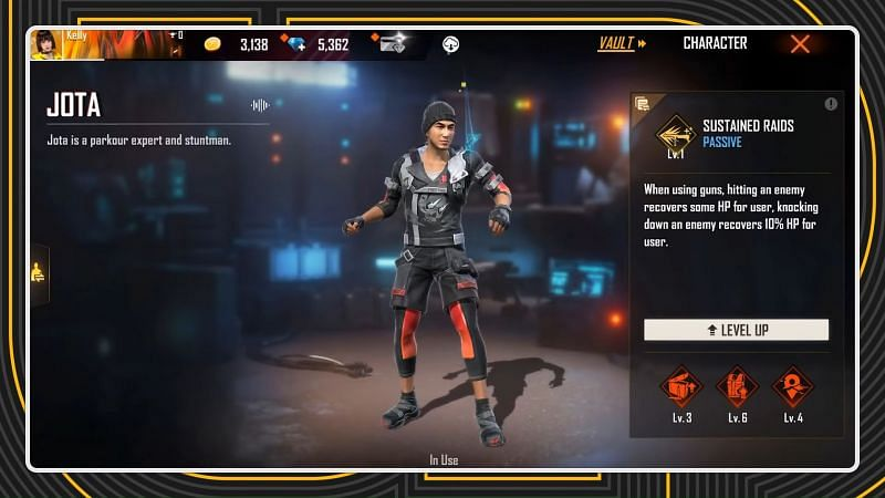 Jota character's ability is going to be altered (Image via Free Fire / YouTube)