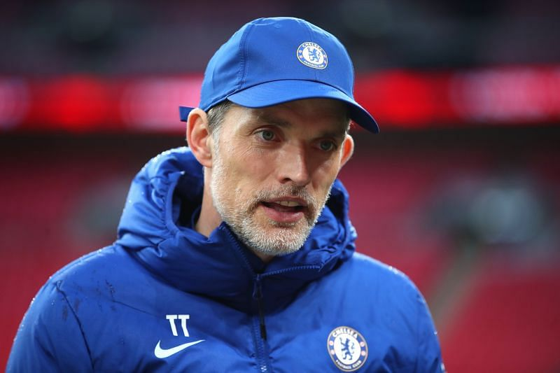 Tomas Tuchel during Chelsea's 2020-21 Emirates FA Cup Final against Leicester City