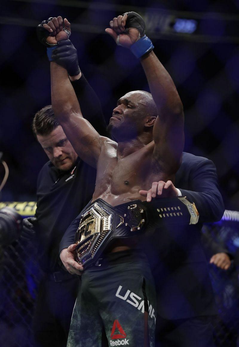 Kamaru Usman becomes Welterweight Champion at UFC 235: Jones v Smith