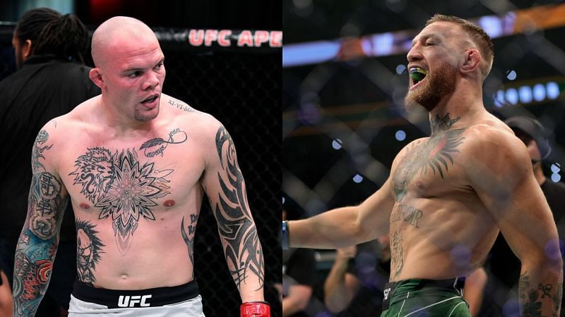 Anthony Smith (left) and Conor McGregor (right)