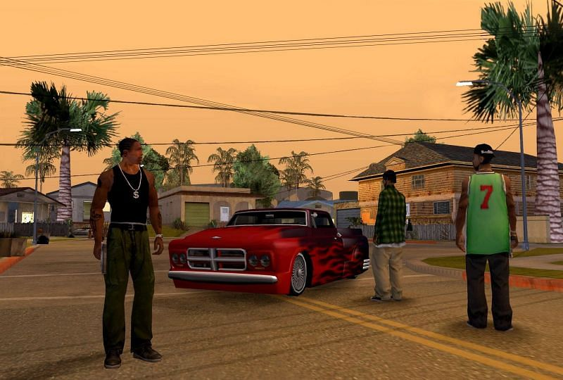 GTA San Andreas has some moments that resemble real life (Image via Playground.Ru)