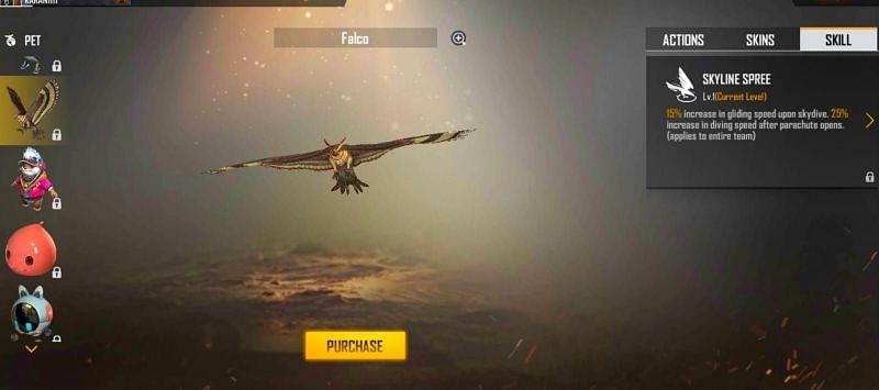 Falco - Skyline Spree (Image via Free Fire)