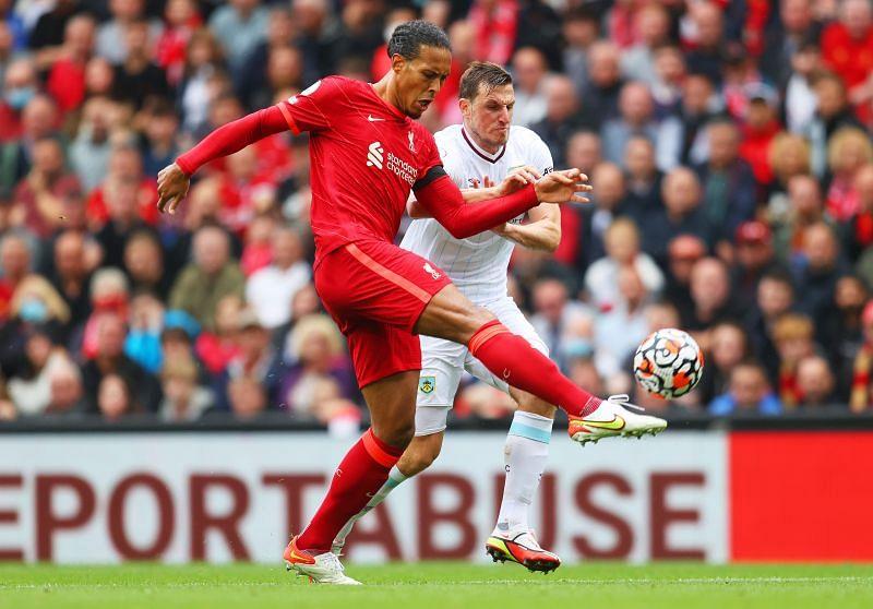 Van Dijk looked comfortable as ever in the Liverpool back line