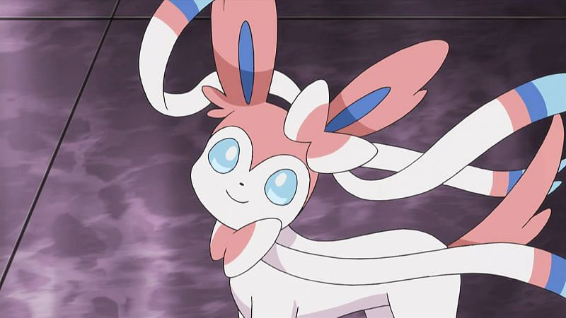Sylveon as it appears in the anime (Image via The Pokemon Company)