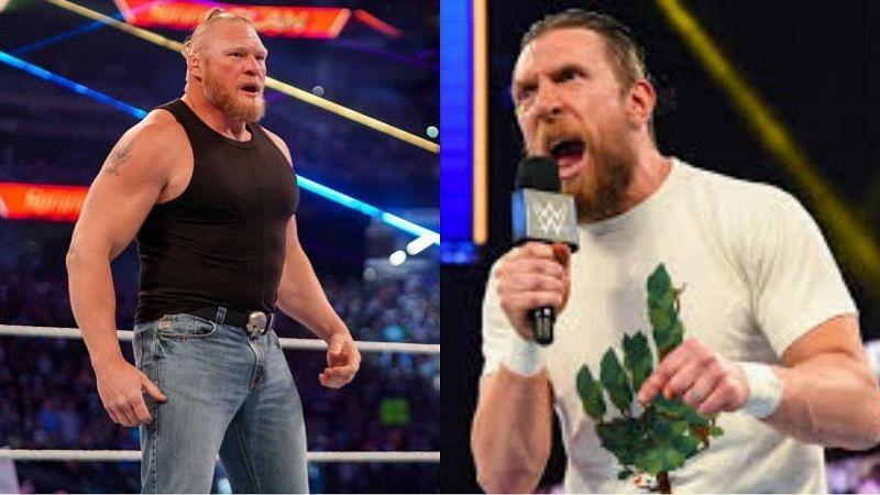 WWE सुपरस्टार ब्रॉक लैसनर और डेनियल ब्रायन