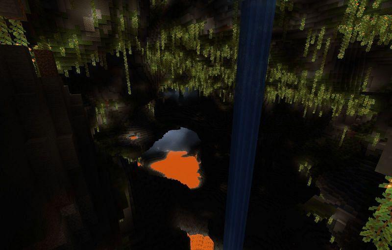 Beautiful cave generation (Image via Minecraft)