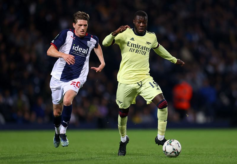 Nicolas Pepe in action for Arsenal