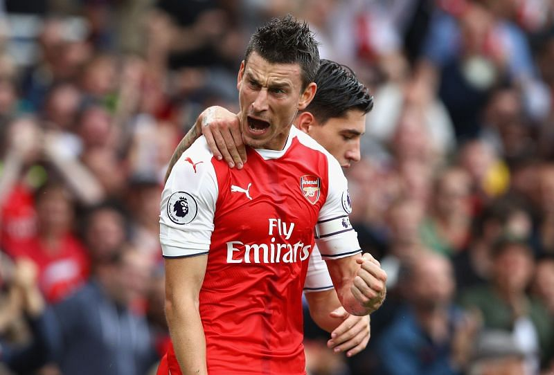 Koscielny started his Arsenal career with a red card