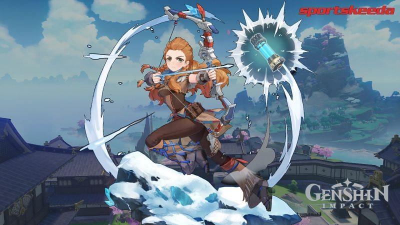 Leaks reveal Aloy's ascension materials ahead of her collab in Genshin Impact. (image via Sportskeeda)