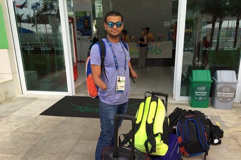 Suyash Jadhav after returning from the 2016 Rio Paralympics. (Credits:Suyash Jadhav Twitter)