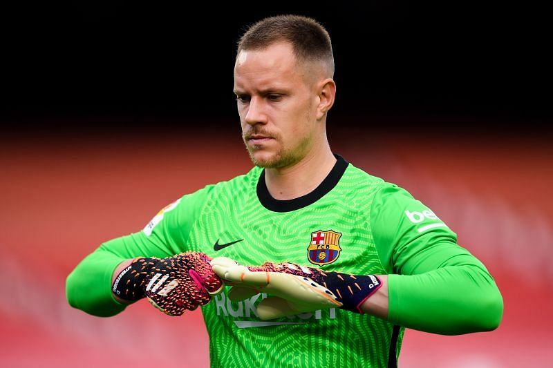 ter Stegen achieved 100th clean sheet with Barcelona last year.