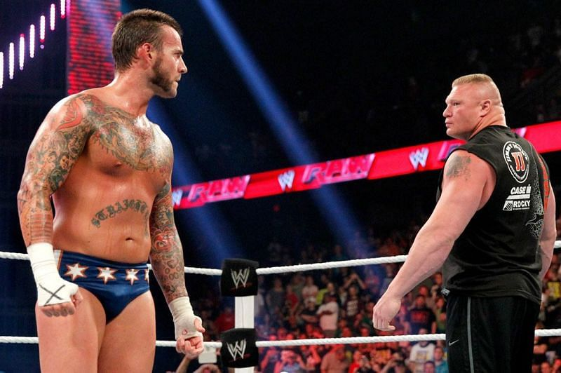 CM Punk and Brock Lesnar met in a classic match in 2013
