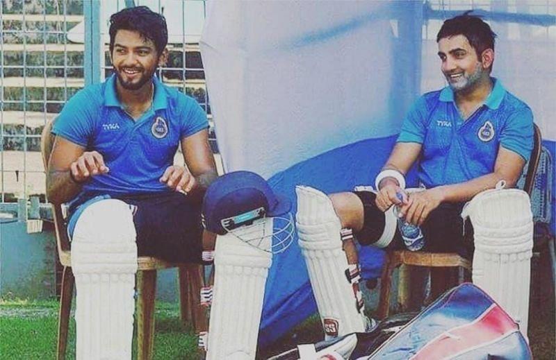 Unmukt Chand and Gautam Gambhir during a Delhi game [Credits: Unmukt Chand]