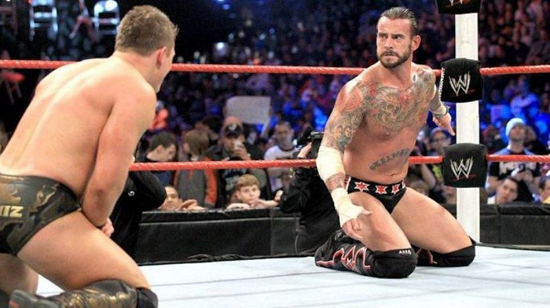The Miz and CM Punk during WWE TLC 2011