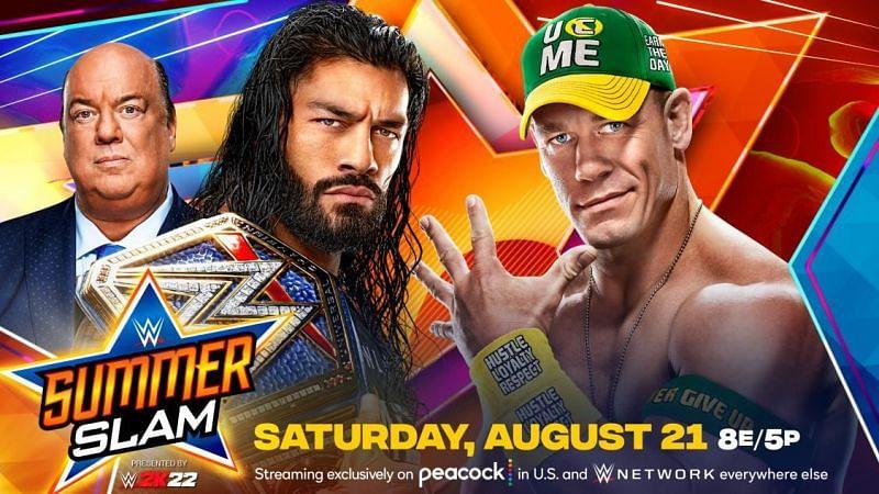 Roman Reigns defends the Universal Championship against John Cena at SummerSlam