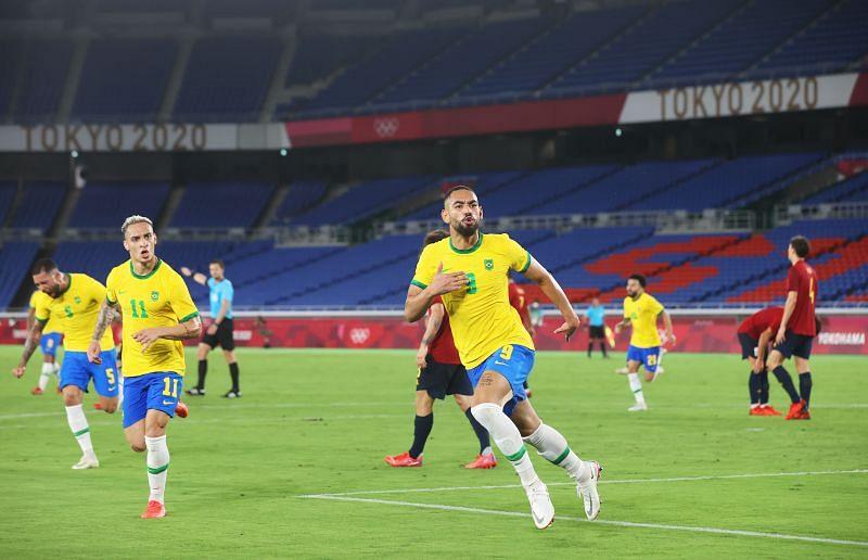 Brazil took the lead through Cunha
