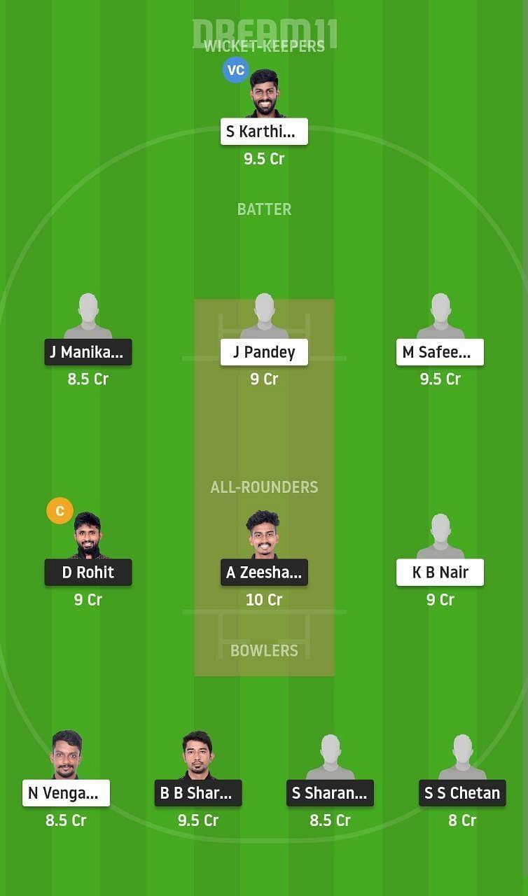 PAN vs BUL Dream11 Fantasy Suggestion #2 - Pondicherry T20