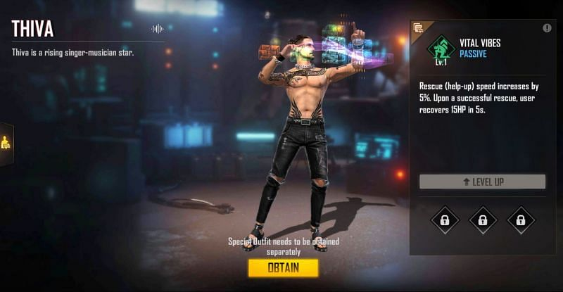 Thiva will be available for free (Image via Free Fire)