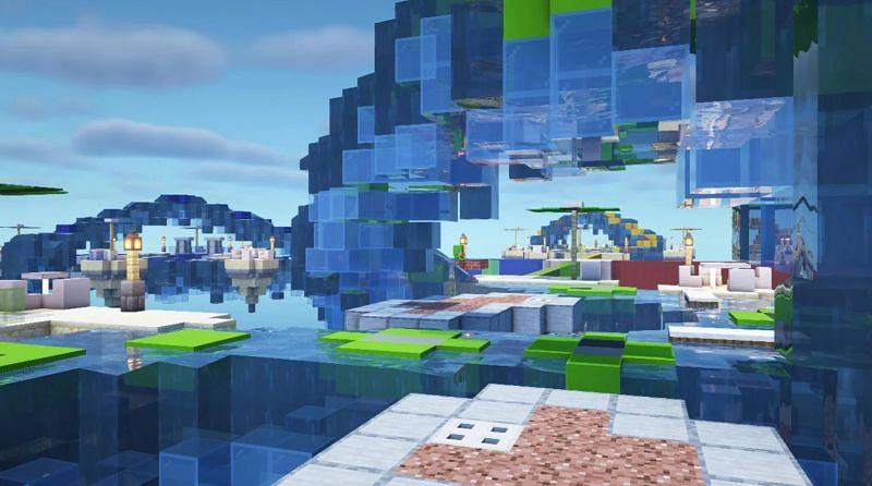 Heart rush 2 realm map (Image via Mojang)