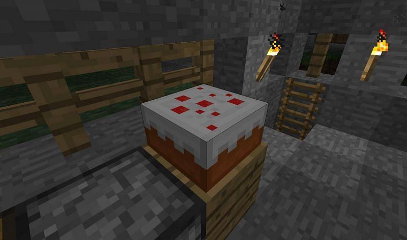 Uses of cake (Image via Minecraft)