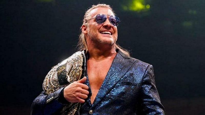 Chris Jericho as the All Elite Wrestling World Champion