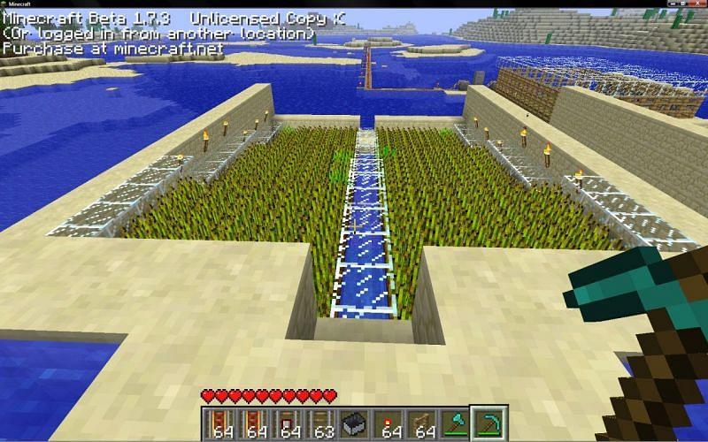 Automatic wheat farm (Image via planetminecraft)