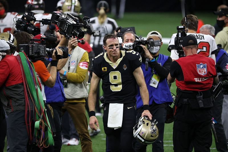 Drew Brees - Divisional Round - Tampa Bay Buccaneers v New Orleans Saints