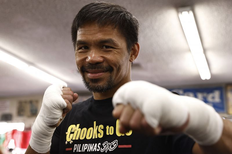 Manny Pacquiao takes on Yordenis Ugas this weekend.