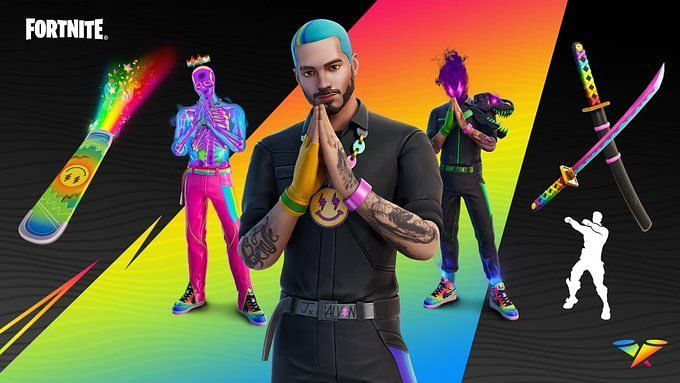 J Balvin is the latest in a long line of celebrity skins in Fortnite. Image via Epic Games
