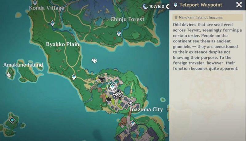 Teleport to Inazuma City in Genshin Impact (Image via Genshin Impact)