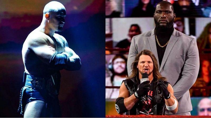 NXT चैंपियन कैरियन क्रॉस और Raw टैग टीम चैंपियंस एजे स्टाइल्स & ओमोस