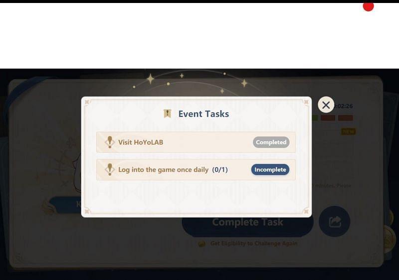 Paimon Quiz etkinliğinde ek şanslar için görevler (miHoYo üzerinden resim)