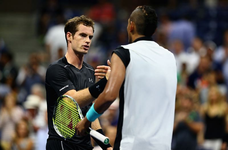 Andy Murray after beating Nick Kyrgios at the 2015 U.S. Open.