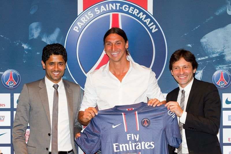 Ibrahimovic being unveiled as a PSG player