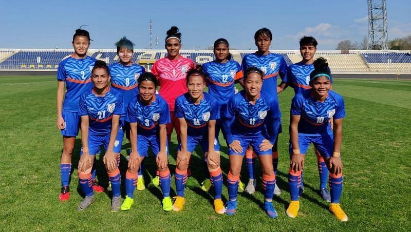 The Indian women's football team. (Credit: AIFF)
