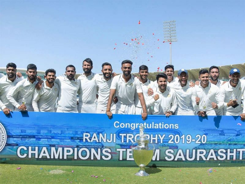 Will Saurashtra be able to retain their title in the 2021-22 season? (Picture credit: PTI)