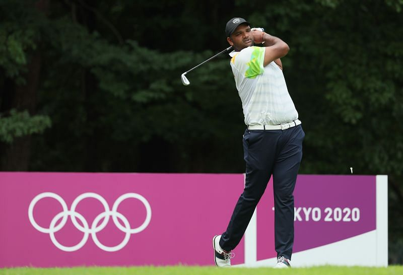 Udayan Mane, who represented India at the Tokyo Olympics, won three PGTI tournaments in the 2020-21 season and was third on the tour's order of merit. (Photo by Mike Ehrmann/Getty Images)