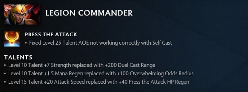 Legion Commander changes in 7.30 (Image via Valve)