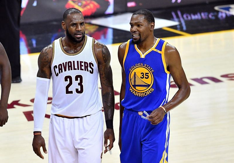 LeBron James and Kevin Durant in 2017 [Source: SFGATE]
