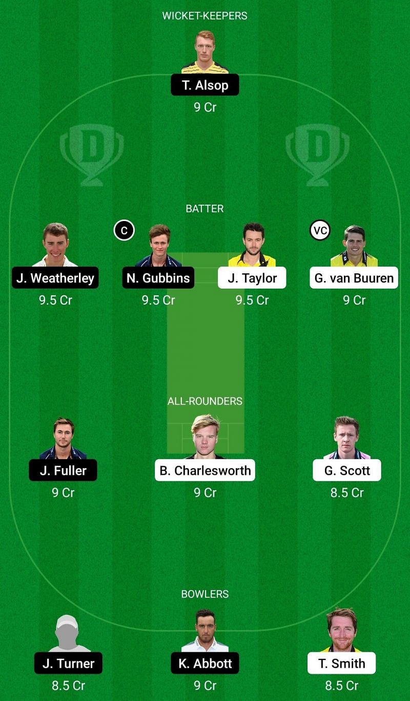 Dream11 Team 1 for Gloucestershire vs Hampshire - Royal London One-Day Cup 2021.