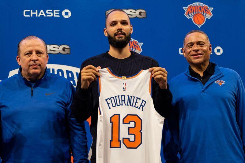New York Knicks introduce new signing Evan Fournier